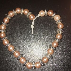 pretty pink pearl bracelet